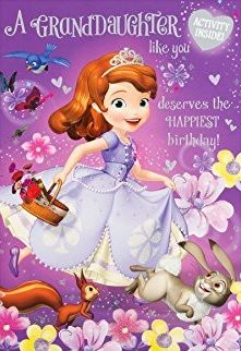GBP - Sofia The First Granddaughter Birthday Card Disney Gift & Garden Birthday Wishes For Daughter, 7th Birthday, Birthday Verses For Cards, Birthday Cards, Quotes About Grandchildren, Birthday Blessings, Disney Gift, Sofia The First, Happy Birthday Greetings