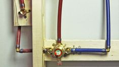 If you have hard water, check intake hoses for washing machines and ice makers often to prevent them from splitting open from buildup * Visit image for more details. Pex Plumbing, Plumbing Drains, Bathroom Plumbing, Plumbing Fixtures, Shower Installation, Plumbing Emergency, Water Waste, Plumbing Problems, Insulation Materials