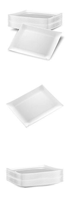 DECORAT WHITE PLASTIC PLATES / PARTY PLATES | 9 Inch Lunch Plates - 20 Pack | Rectangle Disposable Plates | Elegant \u0026 Fancy Heavy Duty Party Supplies Plates ...  sc 1 st  Pinterest & Holiday Plastic Plate-Valentine Hearts Dinner Plate - holidays diy ...