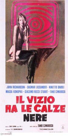 """Reflections in Black (Tano Cimarosa, 1975, A. K. A. Vice Wears Black Hose, """"il Vizio Ha Le Calze Nere"""")"""