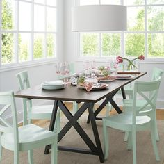 Vintner Mint Side Chair   Crate and Barrel-breakfast room - love these