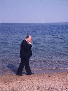 Alfred Hitchcock in Cannes by Francois Gragnon, 1963