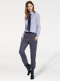 Dámské kalhoty pro každodenní nošení RICK CARDONA BY HEINE - modrá-bílá