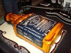 Jack Daniel's Cake. First gift I ever got Shane. A bottle of whiskey.