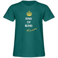 Noah King Of Bling Youth American Apparel Triblend Tee Noah King, Ring Security, Ring Bearer, Mermaid Wedding, American Apparel, Youth, Bling, Tees, Mens Tops