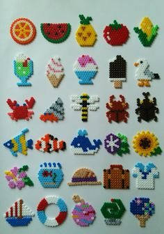 Image result for melty bead patterns for chili peppers