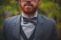 A humble ode to the bow tie. Like A Sir, Redhead Men, Carrot Top, Ginger Beard, Hot Guys, Hot Men, Bearded Men, Freckles, My Boyfriend