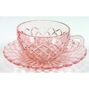 Anchor Waterford Hocking - Waffle pattern Pink Cup