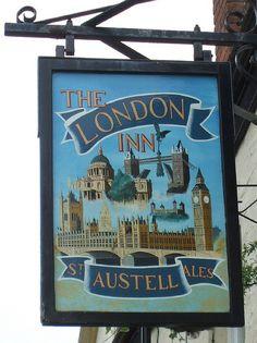 Sign of The London Inn, Padstow, north coast of Cornwall, England ✯ ωнιмѕу ѕαη∂у