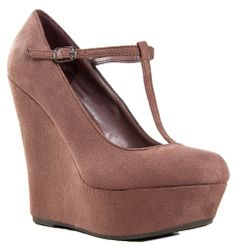 3ced1f147f3 Breckelle s CILO-15 Mary Jane T-Strap Platform Wedge Heel Pump Sneaker  Boots