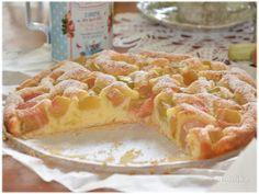 Domowa kuchnia Aniki: Szwedzkie ciasto z rabarbarem. Szybkie ciasto z rabarbarem