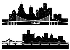 Detroit Skyline Vector Silhouettes Free Free Vector