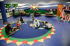 A preschool activity center would be the perfect space for kids, parents, and fun programs. (West Bloomfield Public Library, MI)