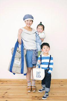 Street Family Snap / Magazine / nina's[ニナーズ] : ブルーをキーカラーにしたお出かけスタイル♪