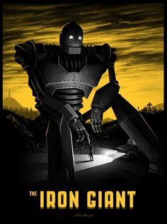 BROTHERTEDD.COM - My Iron Giant poster being released by Mondo today...