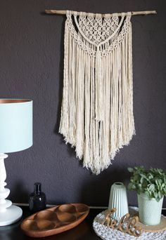 diy cotton rope wall hanging michaelsmakers cakies dekoration pinterest dekoration und. Black Bedroom Furniture Sets. Home Design Ideas