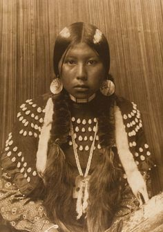 Edward S. Curtis - Dusty Dress - Kalispel, This and more important photography on CuratorsEye.com