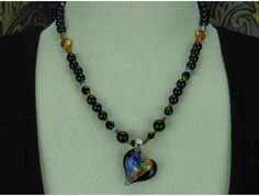 1/Kind Delicate & Romantic Necklace w/Onyx, Turquoise/Magnesite and more!