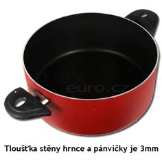 Hrnec - pánvička - poklice Teflonová Sada hrnců a pánviček 4+2 - MaxEuro.cz