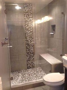 Small Bathroom Shower Tile Design: Completed Shower Door In Denver, Colorado Bathroom Design Small, Bathroom Interior Design, Modern Bathroom, Bathroom Mirrors, Minimalist Bathroom, Bathroom Faucets, Small Bathroom Showers, Seashell Bathroom, Bathroom Ideas On A Budget Modern