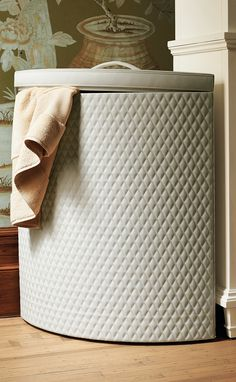 Sturdy and roomy, the Calais Hamper makes laundry day a breeze.