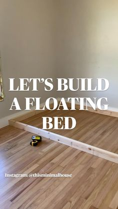 Diy Furniture Projects, Home Projects, Floating Bed, Home Crafts, Diy Home Decor, Diy Bed Frame, Diy Home Repair, Up House, Diy Home Improvement