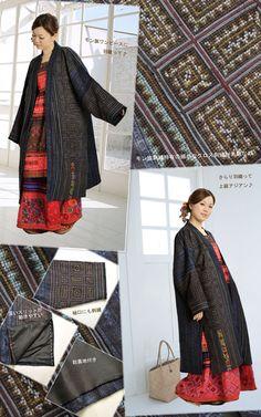 804d91171ba76 ジャケット レディース コート メンズ クールそして上品に!モン族贅沢刺繍☆羽織りコート