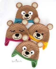 Bernat Bear Hat - Repeat Crafter Me Crochet Bernat Bear Hat - Repeat Crafter Me Crochet Bernat Bear Hat - Repeat Crafter Me 3 in 1 /Crochet giraffe/Amigurumi pattern/Pattern fox/Crochet Crochet Bear Hat, Crochet Baby Hat Patterns, Crochet Kids Hats, Knit Crochet, Crochet Baby Boy Hat, Crochet Animal Hats, Crochet For Children, Childrens Crochet Hats, Booties Crochet