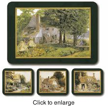Jason Placemats - Country Cottages, Set of Four Assorted