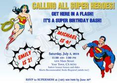 Hey, I found this really awesome Etsy listing at https://www.etsy.com/listing/191882953/birthday-invitation-superhero-superman