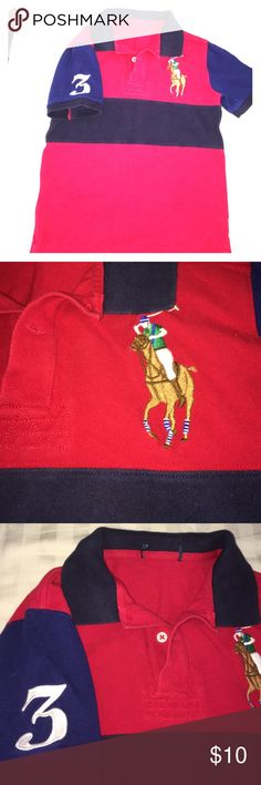 Ralph Laure Polo sz6/7 Boys sz 6/7 label torn out. Great condition. Gently washed 2 times. Ralph Lauren Shirts & Tops Polos
