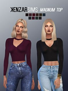 Magnum top at Kenzar Sims via Sims 4 Updates Check more at http://sims4updates.net/clothing/magnum-top-at-kenzar-sims/
