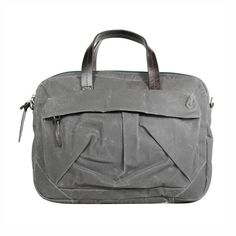 tommy laptop bag (fern) out of waxed cotton canvas and durable leather