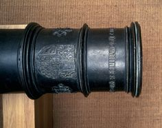 Detail of a bronze cannon of the burgundian wars captured by Basel troups on 14 March 1476. Cast by Jean de Malines, Mecheln in1474, calibre 22,8 mm, length of 2.555 mm. Historisches Museum Basel, Inv. 1874.95