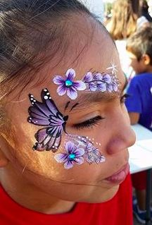 Butterfly and flowers around eye