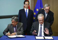 Unión Europea y Vietnam firman un tratado de libre comercio