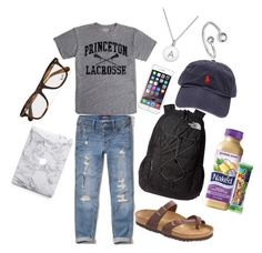 """""""College Student"""" by lukebryanlover25 ❤ liked on Polyvore featuring Kate Spade, Hollister Co., Birkenstock, The North Face, Alex and Ani, Ralph Lauren, Zone and Ray-Ban"""