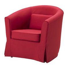 IKEA - ТУЛЬСТА, Чехол кресла, Блекинге белый, Блекинге белый, , Съемный чехол легко содержать в чистоте, так как его можно стирать в машине.Прилагающаяся подушка обеспечивает дополнительную поддержку поясницы.