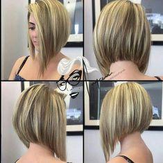 Aline Haircuts, Easy Short Haircuts, Asymmetrical Bob Haircuts, Short Bob Hairstyles, Asymmetric Bob, Haircut Short, Long Aline Haircut, Concave Bob Hairstyles, Edgy Bob Haircuts