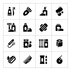 Set icons of hygiene. Water Infographic