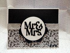 Wedding card using Artiste Cricut Cartridge.
