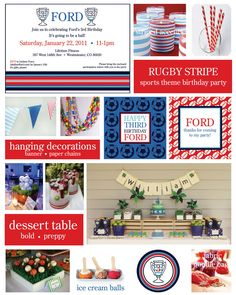 Image detail for -Preppy Sports Themed Boy Birthday Party Ideas   The Party Dress
