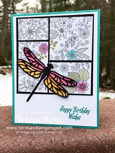 Hi!  Today I have another Dragonfly Card to share with you that also features the Inside The Lines Designer Series Paper you can earn FREE with a minimum $50 (US) purchase prior to S/H and tax. Thi…