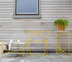 Bent Steel Furniture by Zbigniew Strzebonski