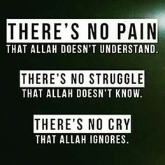 Trust that you will get through this. Allah is with you!