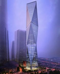 Diagonal Tower by SOM | wordlessTech