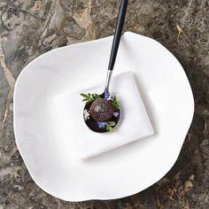 """A Bite of Summer"" Beetroot, Rhubarb, Sheep's Yogurt & Tagetes"