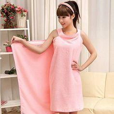 Magic Multi Sexy Women Lady Travel Body Wrap Absorbent Microfiber Shower Bath Drying Terry Towel Spa Bikini Cover Up Beach Skirt Dress Bathrobe Robe (Pink) Hongyu http://www.amazon.com/dp/B00KWTTON8/ref=cm_sw_r_pi_dp_-FyRvb17NC4EM