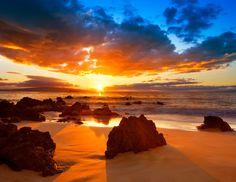 Hawaiian Sunset Sailcloth Print