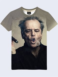 ff6a1763 Jack Nicholson Actor T-Shirt Mens 3-D Print Short Sleeve New Size S-2XL  #Vilno #GraphicTee